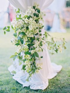 Wedding Ceremony Backdrop, Tent Wedding, Destination Wedding, Large Floral Arrangements, Event Planning Tips, Tent Reception, Dusty Blue Weddings, Wedding Decorations, Wedding Ideas
