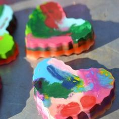 DIY Crayon Hearts for Valentine's Day | Spoonful