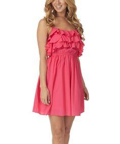Look what I found on #zulily! Fuchsia Ruffle Empire-Waist Dress by Pinkblush #zulilyfinds