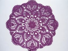 "Violet crochet doily, purple doilies, lace doily, crochet centerpiece, 14"" by kroshetmania on Etsy"