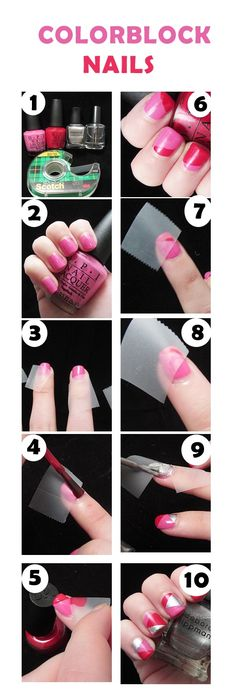 Colorblock Nail Tutorial