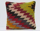 kilim pillow sofa cushion cover 16x16 throw pillow case accent pillow cover throw pillow sham retro pillow sham cotton pillow cover 29548