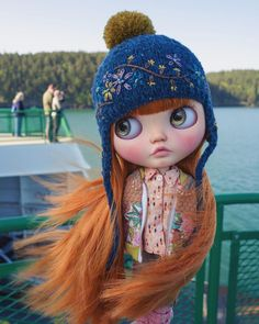 Swept up by that salty breeze. This is not the ferry we are on right now just a Washington car ferry but same idea Fairy Dolls, Blythe Dolls, Dolly Doll, Doe Eyes, Dream Doll, Doll Repaint, Animated Cartoons, Custom Dolls, Ball Jointed Dolls