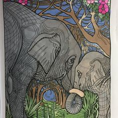 Awesome elephant colouring page which was coloured in by @gizmokids  with their new Chameleon Pens.   #chameleonpens #chameleonmarkers #manicbotanic #manicbotanic @irinavinnik  #adultcoloringbook #adultcoloringbooks #colouringforadults #colortherapy #bayan_boyan @coloring.masterpiece #coloringbookforadults #colouringbookforadults #coloringforadults #colouringforadults