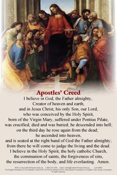 Apostles  Creed...every Methodist has known this by heart for as far back as we can remember! A great creed to commit to memory.