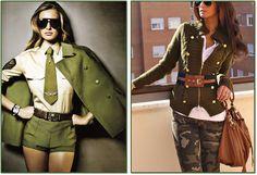 LindonaRem- Comunidade da Moda : Verde militar! Cor sofisticada que vai do esportiv...