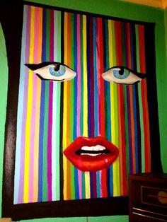 Selfie,girl,eyes,lips,color,cute,2014,rainbow.