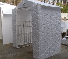 Foam #Mausoleum. Detail done by Dean Taunton with Hot Wire Foam Factory's #Freehand #Router. The Freehand Router is on sale NOW! Click here: http://hotwirefoamfactory.com/-K40F-1-Freehand-Router-Kit-with-Single-Heat-Pro-Power-Station.html