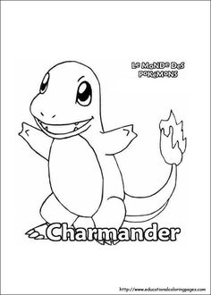 Charmander Pokemon Coloring Page Make your world more colorful with free printable coloring pages from italks. Our free coloring pages for adults and kids.