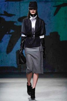 sparkly this blue } Kenneth Cole Collection NYFW FW13