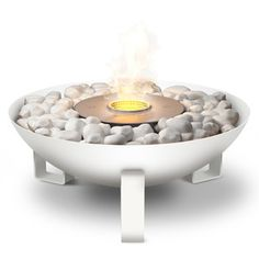 EcoSmart Fire Dish Fireplace White now featured on Fab.