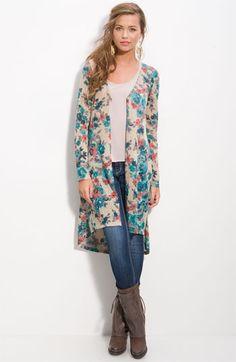 h.i.p. Floral Midi Cardigan (Juniors)   Nordstrom - StyleSays