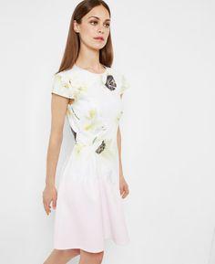 Pearly Petal skater dress