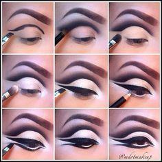 Fierce Eye Makeup I think I'll try to do mine like this tonight!