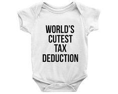 world's cutest tax deduction onesie, Accountant Husband, Finance Theme Bodysuit, Tax Onesie, Cute Onesie, Funny Onesies, Baby Shower Gift