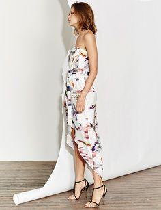 Blurred lines maxi dress