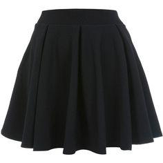 Miss Selfridge Petites Full Skater Skirt ($26) ❤ liked on Polyvore featuring skirts, bottoms, saias, jupes, black, petite, circle skirt, flared skirt, textured skirt and skater skirt