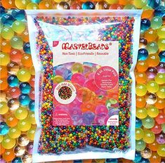 MarvelBeads Water Beads Rainbow Mix, 8 oz (20,000 beads) for Orbeez Spa Refill, Sensory Toys and Décor #handmade