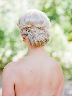 Braided low bun: Photography: Connie Whitlock - conniewhitlockphoto.com   Read More on SMP: http://www.stylemepretty.com/2017/01/13/backyard-chic-colorado-wedding/