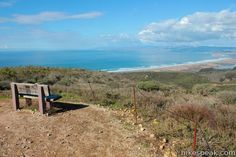 Hazard Peak: trail description, photos, GPS map, and directions for this summit hike in Montaña de Oro State Park, California with views of Morro Bay