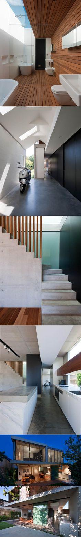 2008 MCK Architects - Queens Park House / Sydney Australia / wood mirror concrete / white black
