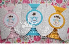 Baptism Invitation, Angel invitations, Gatefold invitations, Invitaciones de Bautizo by Detallitospapel on Etsy https://www.etsy.com/listing/385625498/baptism-invitation-angel-invitations