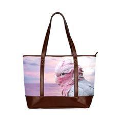 Galah Cockatoo Tote Handbag. FREE Shipping. #artsadd #bags #parrots