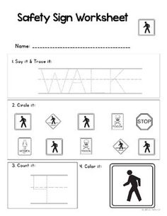 This is a photo of Transformative Free Printable Safety Signs Worksheets