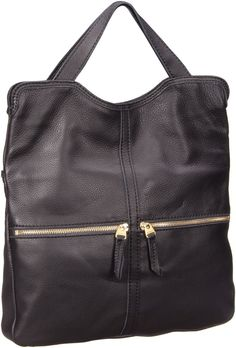 Fossil – Erin Tote Leather Black - Fossil Erin Tote Leather Black