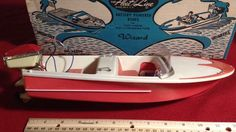 "Parts or Repair Vintage 1960's Plastic Fleet Line Wizard Motor Speed 12"" Boat #Wizard"