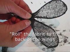 wings with paverpol and stockinette.wmv