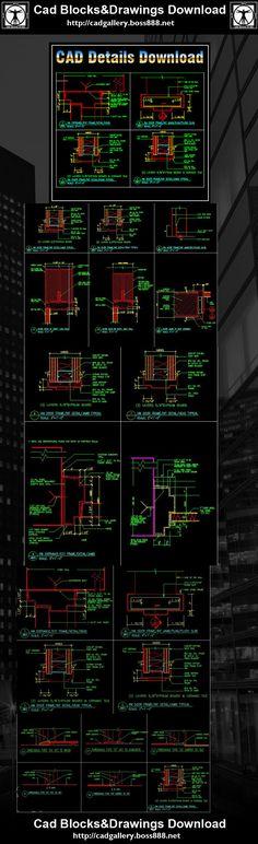 Download Free Cad Blocks and Drawings now!! (https://www.cadblocksdownload.com/)Door Jamb Details,Door Jamb Design ,CAD drawings downloadable in dwg files