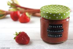 Schnin's Kitchen: geröstete Erdbeer-Rhabarber-Marmelade