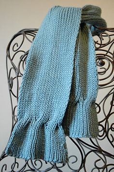 Cable-Ended Scarf, Tracy St. John | free pattern available | the cable design element would look great on the bottom of either cardigan or pullover as well