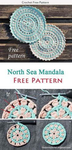 North Sea Mandala Crochet Free Pattern