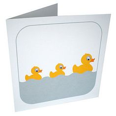 Wobbly Eyed Ducks Card - shop by category