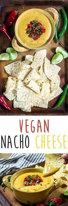 This Vegan Nacho Cheese is creamy, spicy, tangy and full of mouth-watering flavor! It's easy to prepare and filled with wholesome ingredients, too. Nacho Cheese, Vegan Cheese, Cheese Sauce, Vegan Appetizers, Appetizer Recipes, Vegan Vegetarian, Vegetarian Recipes, Vegan Meals, Veggie Recipes