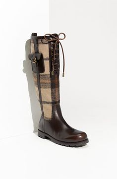Love these fall (2011) boots from Tory Burch.  Seriously sick with not only plaid, but laces and a gold zipper up the back!