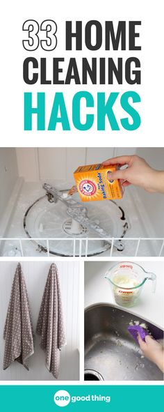 I'm sharing 33 of my all-time best cleaning hacks for your house. These clever tips will leave your house sparkling clean, while saving you time and effort! #householdcleaningtips