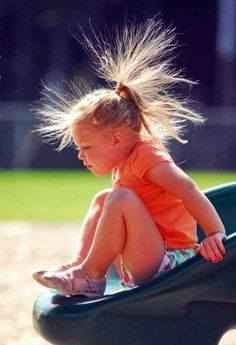 Static hair, the life of a child on the playground -- mystaticguard.com #staticguard #staticcling #hair