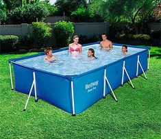 Bestway Steel Pro 157 X 83 X Rectangular Frame Above Ground Swimming Pool : Target Best Above Ground Pool, Above Ground Swimming Pools, In Ground Pools, Piscina Rectangular, Rectangular Pool, Oberirdische Pools, Cool Pools, Outdoor Extension Cord, Backyard Pool Landscaping