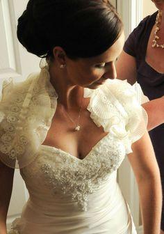 Bridal ruffled bolero