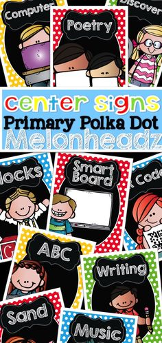 Center Signs Great for Kindergarten Classroom {EDITABLE pages included}