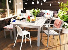 Ikea Falster outdoor furniture, could work out for a few years.