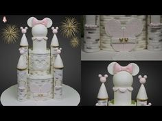 How to use Silvia Mancini Easy Eyes Cake Decorating Tutorial Easy Castle Cake, Disney Castle Cake, Castle Cakes, Castle Birthday Cakes, Funny Birthday Cakes, Fondant Cake Tutorial, Cake Topper Tutorial, Mickey Cakes, Minnie Mouse Cake