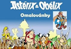 New print the coloring and draw Asterix and Obelix