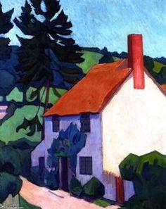 Devon Cottage - (Robert Bevan)