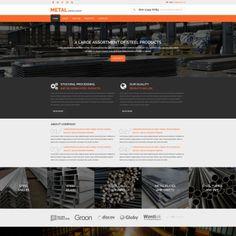 Industrial Parallax Website Template