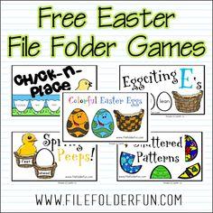 Free Easter Egg File Folder Games