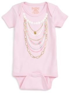 03fb50d14 Sara Kety Infant Girls' Pearl Necklace Bodysuit - Sizes 0-18 Months ...